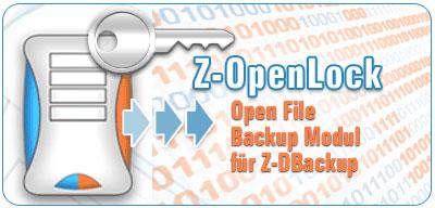 Open File Backup Modul für Z-DBackup - Backup von MS SQL ®- und MS EXCHANGE ® - Datenbanken.