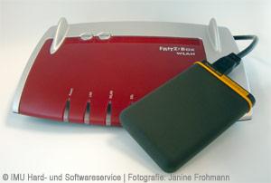 FRITZ!Box 7390 mit USB-Laufwerk