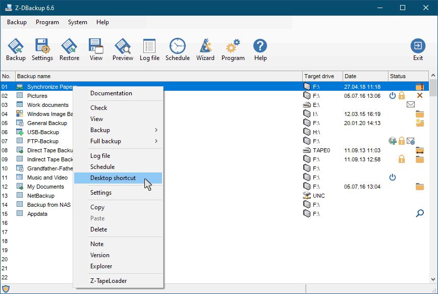 Backup Desktop Icon