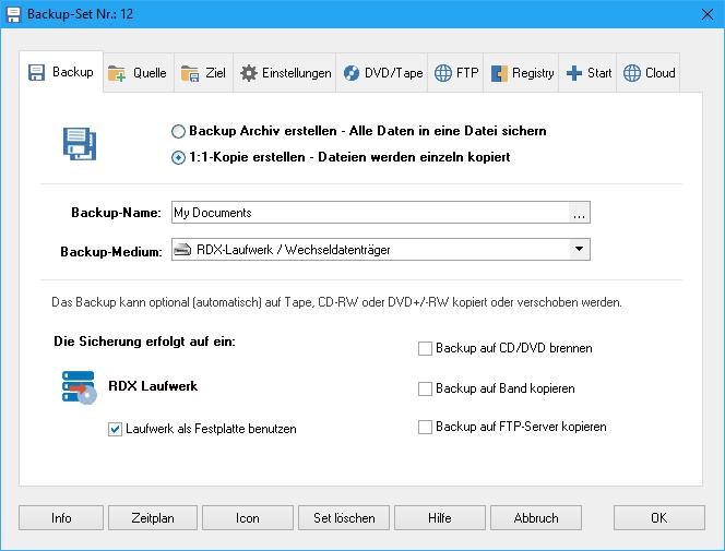 RDX Backup
