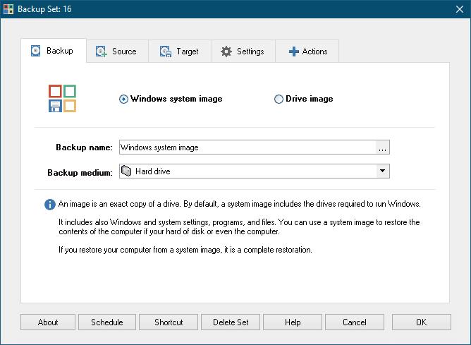 Windows System Backup