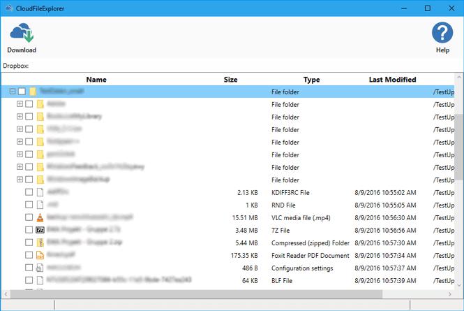 Z-CloudBackup Explorer