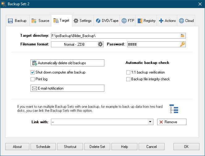 Z-DBackup Screenshot 4