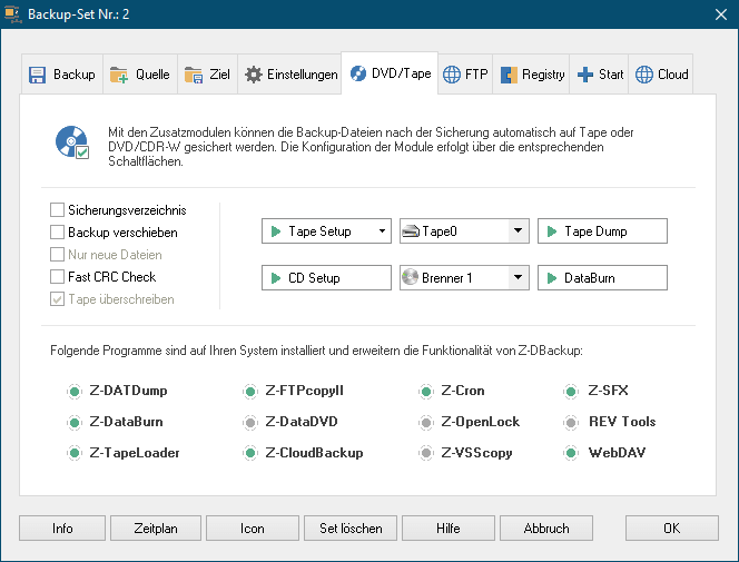 Z-DBackup Screenshot 6
