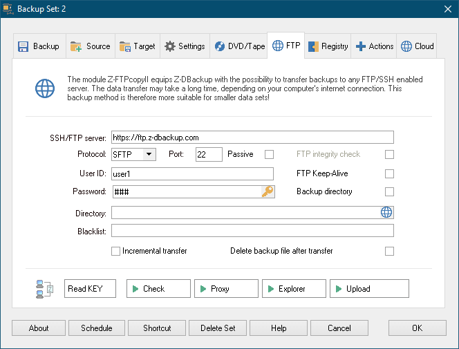 Z-DBackup Screenshot 7